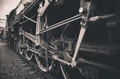 Alte sich fortbewegende Räder Stockfoto
