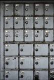 Alte SicherheitsSchließfächer im Nichtgebrauch Lizenzfreies Stockfoto