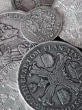 Alte Silbermünzen Lizenzfreies Stockfoto