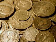 Alte Silbermünzen Lizenzfreie Stockfotografie