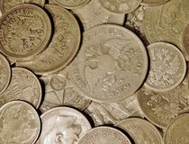 Alte Silbermünzen Lizenzfreie Stockfotos