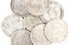 Alte silberne Dollar Lizenzfreies Stockfoto