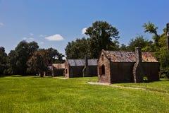 Alte Sklavenhütten in einem South- Carolinabauernhof Lizenzfreies Stockbild