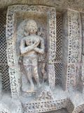 Alte Skulptur bei Konark, Odisha lizenzfreies stockfoto