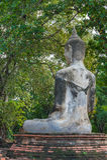 Alte Skulptur Buddha Lizenzfreies Stockfoto