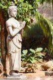 Alte Skulptur in Mihintale Sri Lanka Stockfotografie