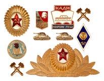Alte sowjetische Abzeichen Stockbild