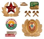 Alte sowjetische Abzeichen Lizenzfreies Stockfoto