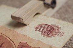 Alte sowjetische Banknote zehn Rubel Lizenzfreies Stockbild