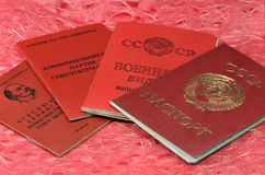 Alte sowjetische Dokumente Lizenzfreie Stockfotografie