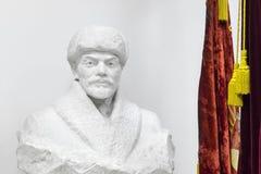 Alte sowjetische Marmorbüste von Lenin Stockfotos