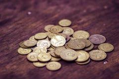 Alte sowjetische russische Kupfermünzen lizenzfreie stockfotografie
