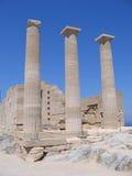 Alte Spalten des griechischen Tempels Lizenzfreies Stockbild