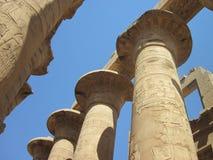 Alte Spalten am Karnak Tempel in Ägypten Stockfoto