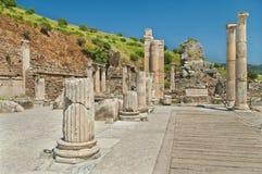 Alte Spalten und Ruinen Stockbild