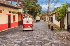 Alte spanische Bergbaustadt Valle de Angeles nahe Tegucigalpa, Hondu Stockfoto