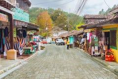 Alte spanische Bergbaustadt Valle de Angeles nahe Tegucigalpa, Hondu Stockfotos