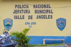 Alte spanische Bergbaustadt Valle de Angeles nahe Tegucigalpa, Hondu Stockbild