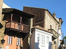 Alte spanische Gebäude Stockfotos