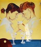 Alte spanische gemalte Wand Lizenzfreie Stockbilder