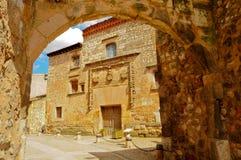 Alte spanische Stadt Lizenzfreie Stockfotografie