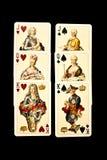 Alte Spielkarten Stockbilder