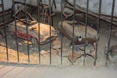 Alte Spielwaren in Neapel-Untergrund, Italien lizenzfreie stockfotografie