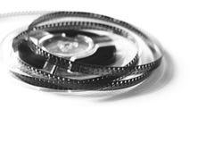 Alte Spulen mit Schwarzweiss-Film Stockbild
