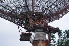 Alte Spurhaltungsstation, Parabolisches antena lizenzfreies stockbild