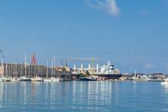 Alte Städte und Hafen Stockbild