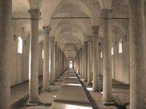 Alte Ställe im Schloss Stockbilder