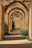 Alte Ställe von Meknes Stockbild
