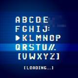 Alte Störschub-Computer-Buchstaben lizenzfreie abbildung