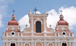 Alte Stadt. Alte Kirche Stockfoto
