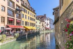 Alte Stadt Annecy Stockfotos