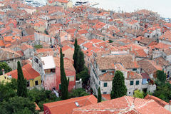 Alte Stadt. Ansicht von über 9 Lizenzfreies Stockfoto