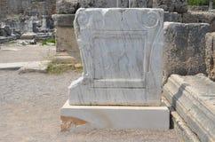 Alte Stadt Antalyas Perge, das Agora, das alte römische Reich Stockfotos