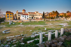 Alte Stadt in Athen Stockfotografie