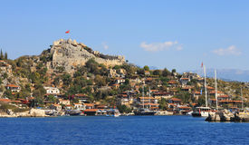 Alte Stadt auf der Küste von Kekova die Türkei Lizenzfreie Stockbilder