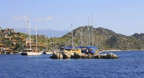 Alte Stadt auf der Küste von Kekova die Türkei Lizenzfreies Stockbild