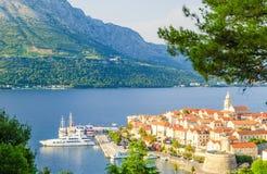 Alte Stadt auf Korcula-Insel in Dalmatien, Kroatien Stockfotos