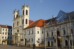 Alte Stadt Banska Bystrica, Mittel-Slowakei lizenzfreies stockfoto