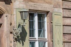 Alte Stadt Bayreuth der Fassade Stockbild