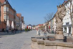 Alte Stadt Bayreuths Lizenzfreie Stockbilder