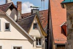 Alte Stadt Bayreuths - kleines Haus Stockbild
