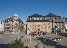 Alte Stadt Bayreuths - Opernhaus Lizenzfreies Stockbild