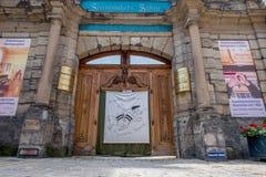 Alte Stadt Bayreuths - ¼ Steingraeber Hoftheater Studiobà hne Bayreuth Stockfotografie