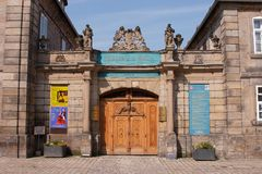 Alte Stadt Bayreuths - Steingraeber-Klavier manufacturerr Stockfotos