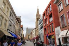 Alte Stadt Belgien Brügges Lizenzfreies Stockbild