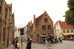 Alte Stadt Belgien Brügges Lizenzfreie Stockfotos